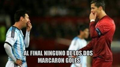 Los mejores memes de Argentina-Portugal. Amistoso internacional