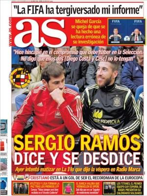 Portada AS: Sergio Ramos y sus declaraciones