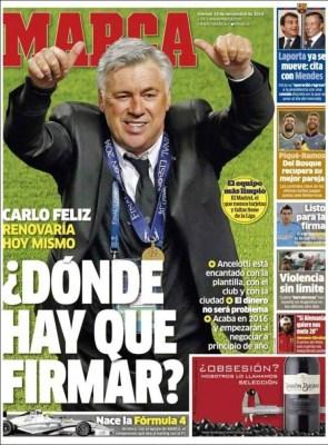 Portada Marca: Ancelotti quiere renovar