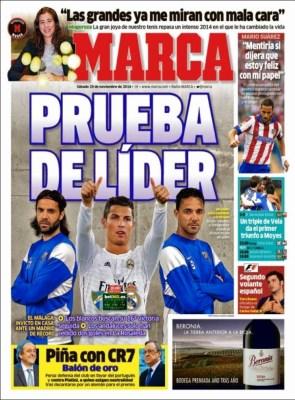Portada Marca: Real Madrid-Málaga a por el récord de victorias