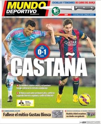 Portada Mundo Deportivo: debacle del Barça