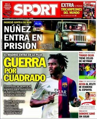 Portada Sport: Guerra por Cuadrado