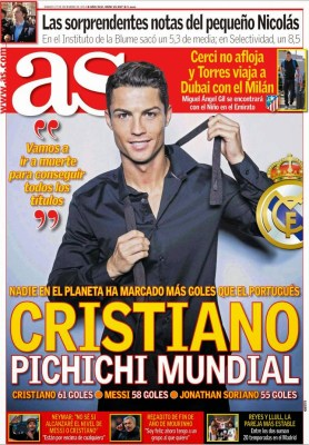 Portada AS: Cristiano Ronaldo Pichichi Mundial