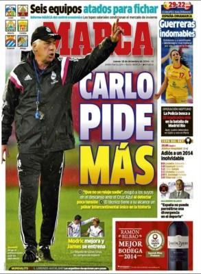 Portada Marca: Carlo pide más mundial clubes