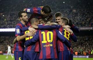 Barcelona 3-Atlético Madrid 1. Jornada 18 Liga Española