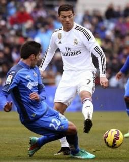 Getafe 0-Real Madrid 3. Jornada 19 Liga Española 2015 ronaldo