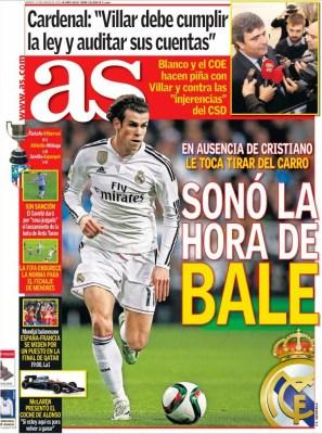 Portada As: la hora de Bale