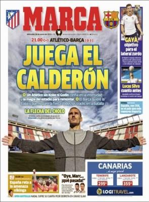 Portada Marca: juega el Calderón atletico barça