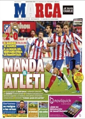 Portada Marca: Manda el Atlético en Copa del Rey