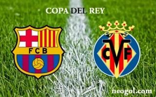 Alineación y la previa Barcelona-Villarreal. Copa del Rey