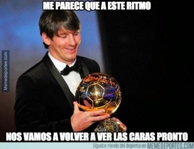 Los mejores memes del Barça-Levante: Liga Española messi balon oro