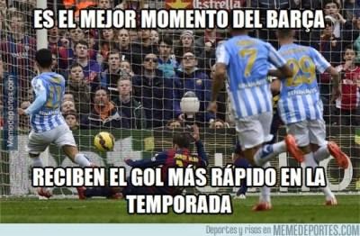 Los mejores memes del Barça-Málaga: Liga Española