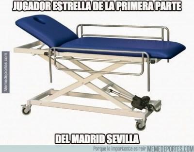 Los mejores memes del Real Madrid-Sevilla: Liga Española lesiones