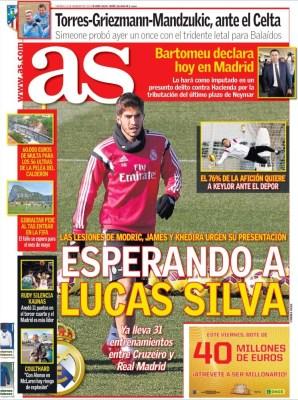 Portada AS: Esperando a Lucas Silva