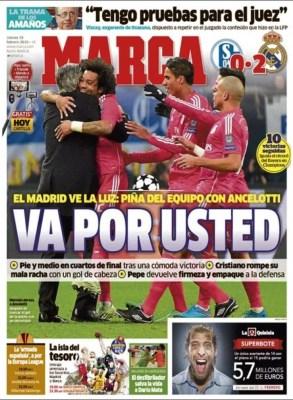 Portada Marca: Va por Usted ancelotti real madrid schalke champions
