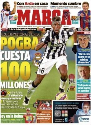 Portada Marca: Pogba 100 millones