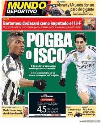 Portada Mundo Deportivo: Pogba o Isco