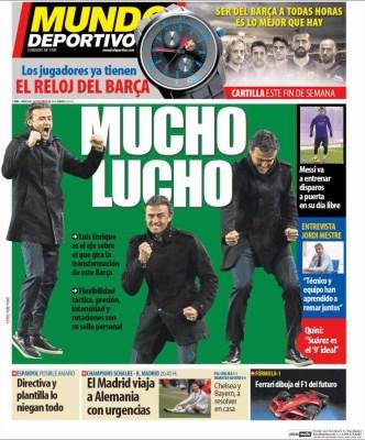 Portada Mundo Deportivo: Mucho Lucho