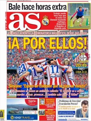 Portada As: A por ellos! atletico leverkusen champions