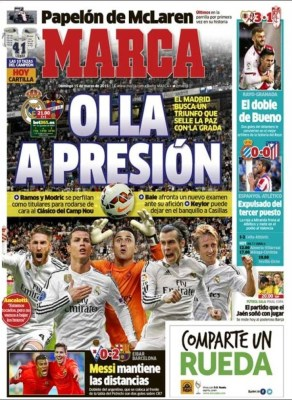 Porta Marca: olla presión real madrid