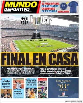 Portada Mundo Deportivo: final de Copa del Rey en el Camp Nou