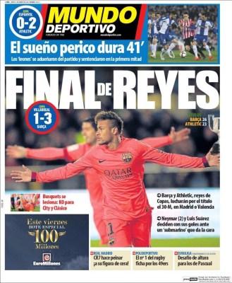 Portada Mundo Deportivo: final de Reyes