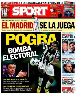 Portada Sport: Pogba