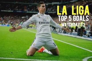 Los 5 mejores goles de la Jornada 32: Liga Española 2015