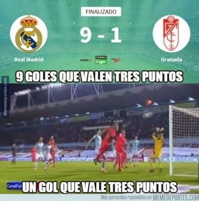 Los mejores memes del Celta de Vigo-Barcelona: Jornada 29 9 goles 3 puntos 1 gol 3 puntos broma meme chiste barcelona real madrid