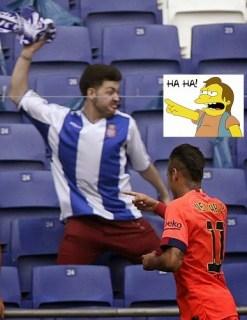 Los mejores memes del Espanyol-Barcelona: Jornada 31 neymar nelson simpsons ha ha