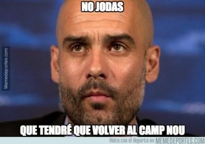 Los mejores memes del sorteo de Semifinales de Champions 2015 pep guardiola