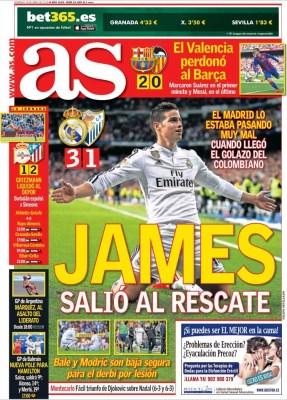 Portada AS: James al recate
