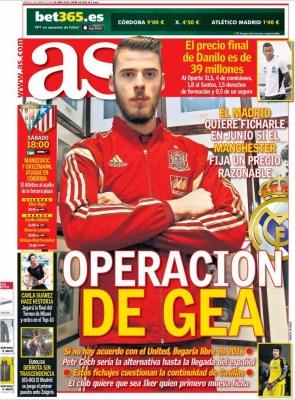 Portada AS: Operación De Gea