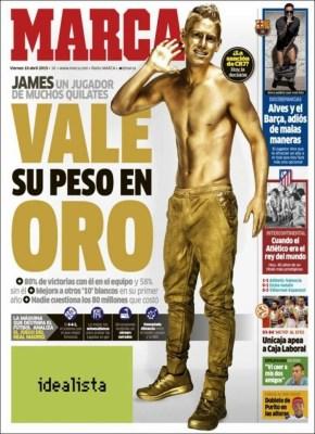 Portada Marca: James vale su peso en oro golden boy