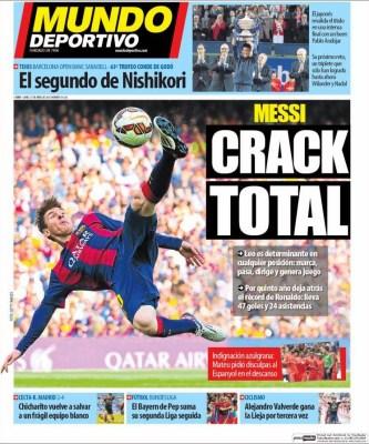 Portada Mundo Deportivo: Messi crack total