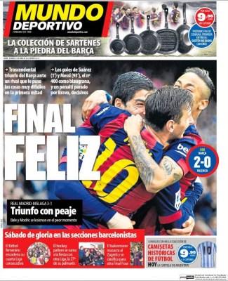Portada Mundo Deportivo: Que palo, Bale y Modric lesionados