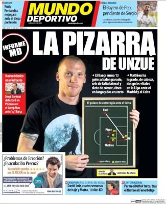 Portada Mundo Deportivo: la pizarra de Unzué