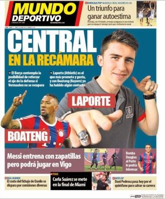 Portada Mundo Deportivo: central en la recámara