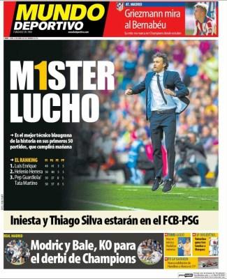 Portada Mundo Deportivo: Míster Lucho