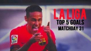 Neymar, el mejor gol de la Jornada 31 El Top 5 de goles y resultados de la Jornada 31. Liga Española 2015
