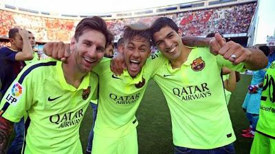 Messi, Neymar y Suárez campeones de liga española 2015