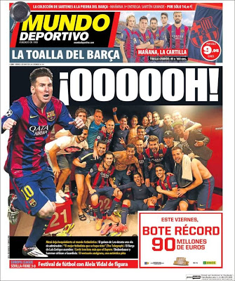 Portada Mundo Deportivo: la prensa mundial a los pies de Messi