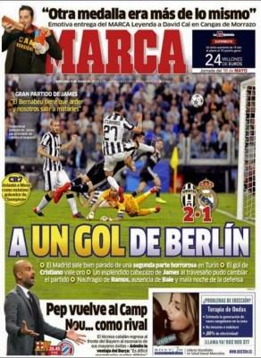 Portada Marca: a un gol de Berlín