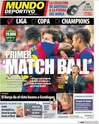 Portada Mundo Deportivo: primer Match Ball