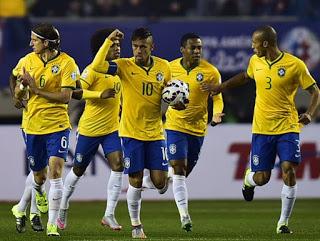 Brasil 2-Perú 1. Copa América 2015 Grupo C