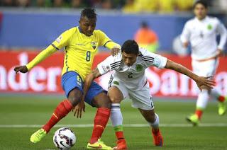 México 1-Ecuador 2. Copa América 2015 Grupo A