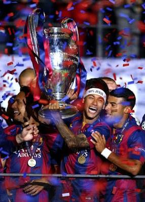 neymar con la champions league 2015