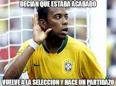 Los mejores memes del Brasil-Paraguay. Copa América  robinho
