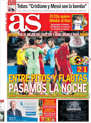 Portada AS: pitos a Piqué