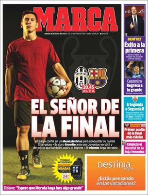 Portada Marca: Messi, el señor de la final
